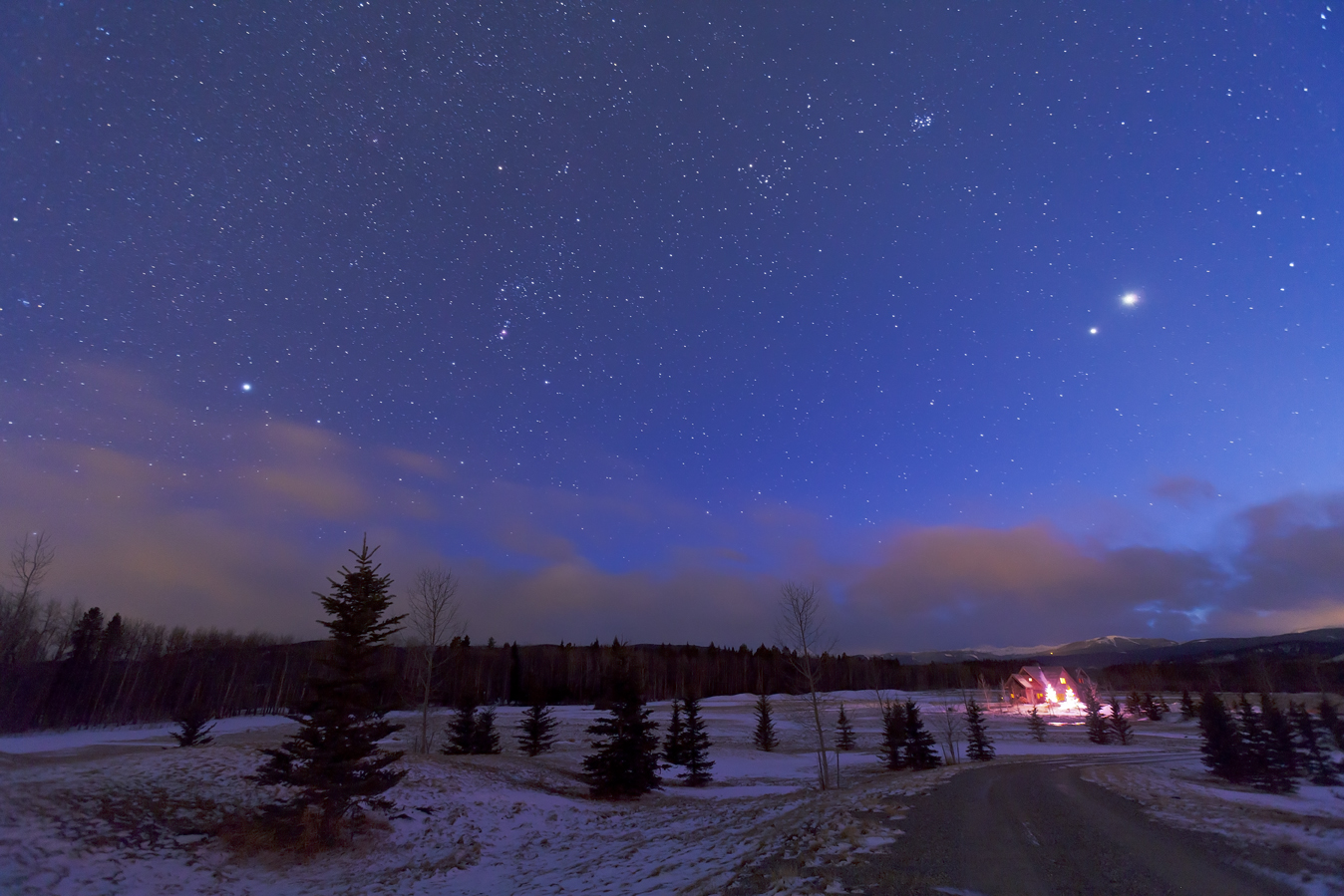 winter night sky planets - photo #17