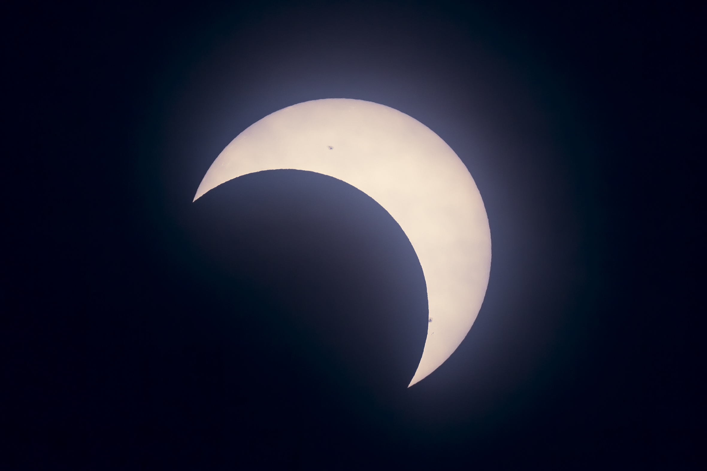partial solar eclipse from calgary the amazing sky