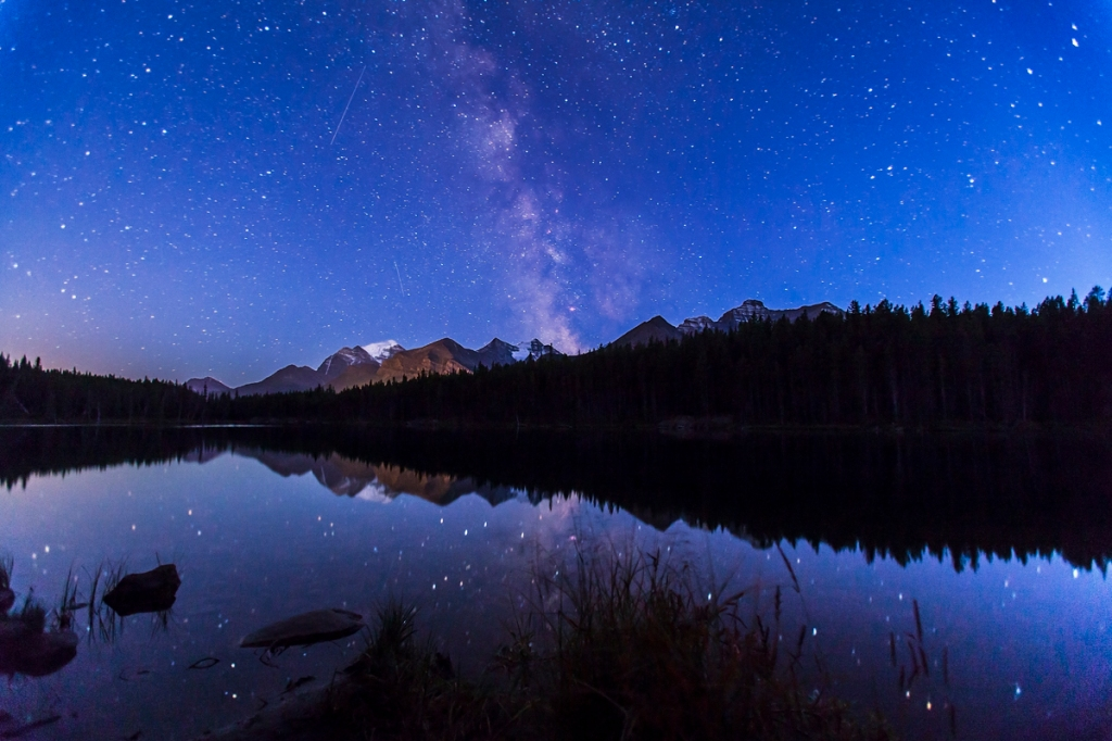 Milky Way Over Calm Water