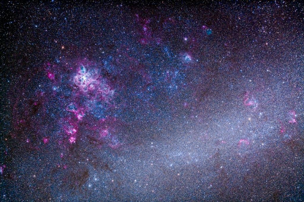 NGC 2070 Tarantula Nebula area of LMC (105mm 5DII)