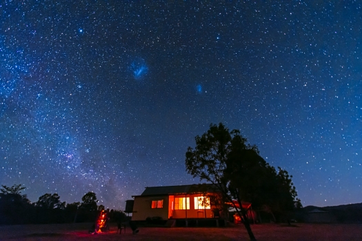 Magellanic Clouds in Moonlight