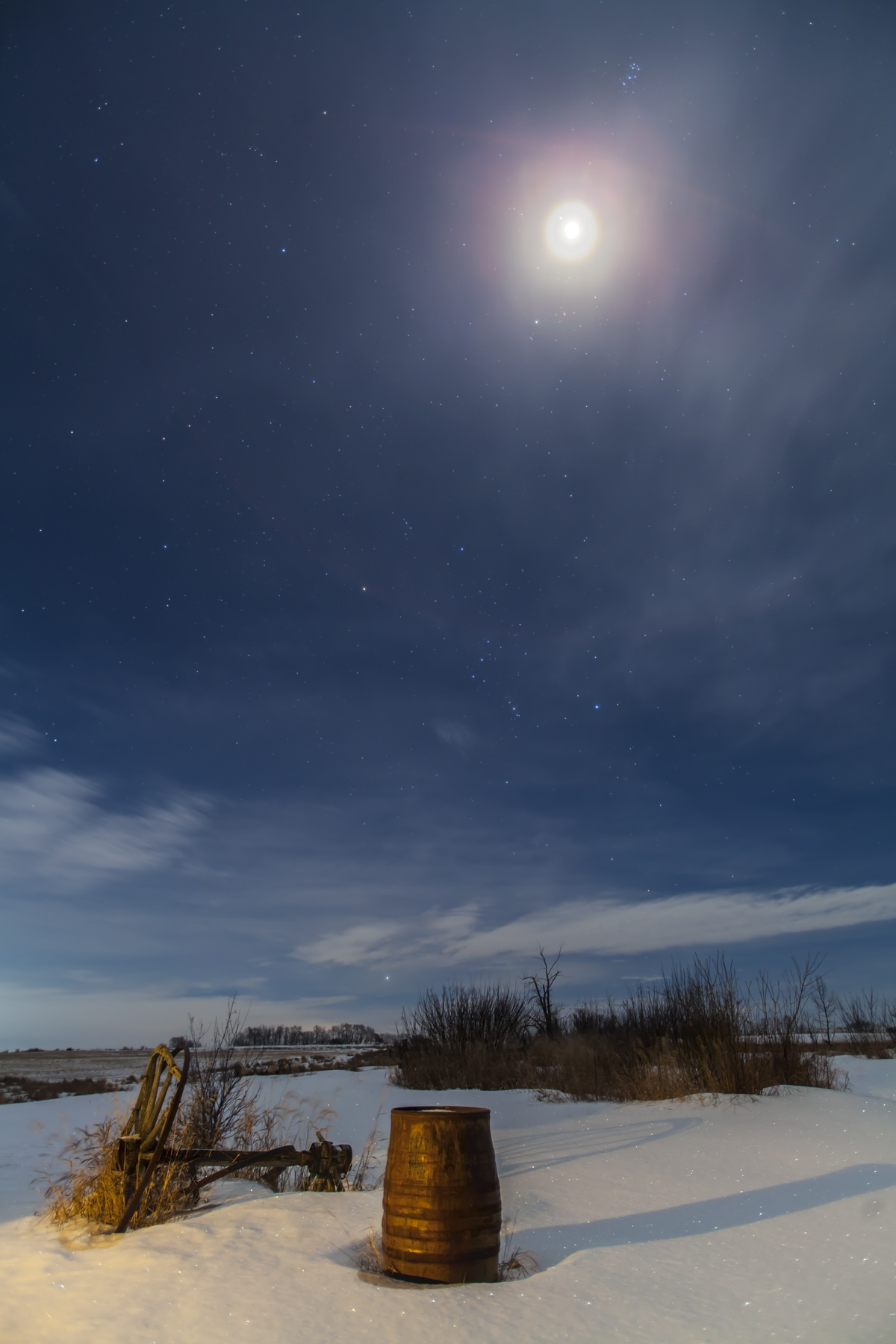 The Moon near Jupiter in the Winter Sky, January 21, 2013