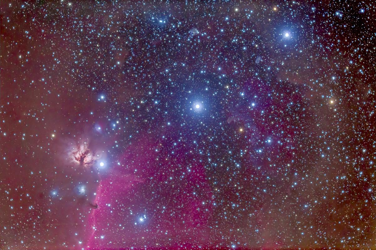 Belt of Orion & B33 Horsehead Nebula (92mm 6D)