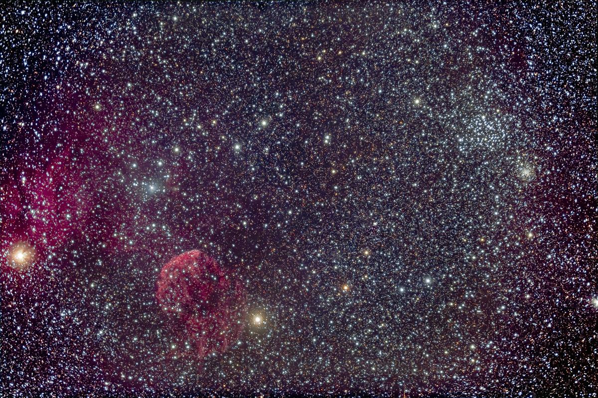 IC 443 Jellyfish Nebula & M35 (92mm 6D)