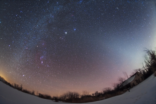Zodiacal Light rfrom Home (Feb 8, 2013)