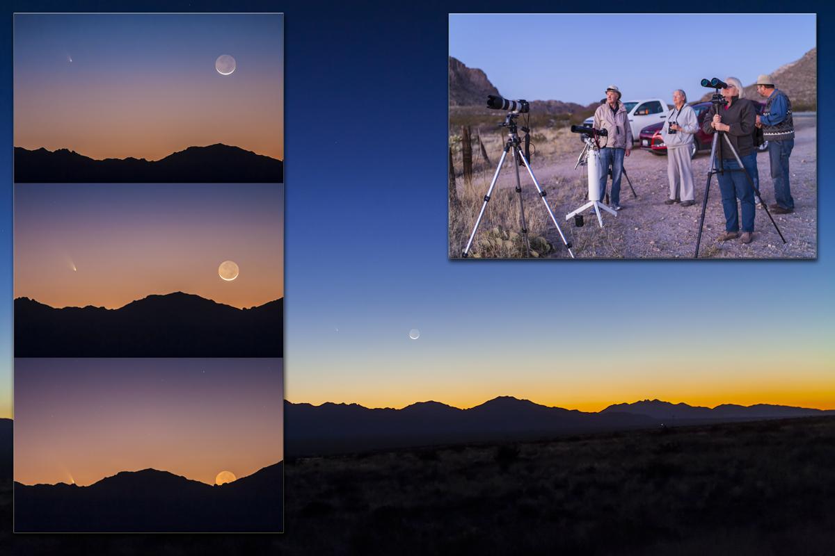 Comet PANSTARRS & the Moon in Twilight (March 12, 2013)