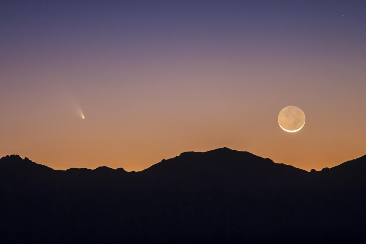 Comet PANSTARRS & the Moon (March 12, 2013)