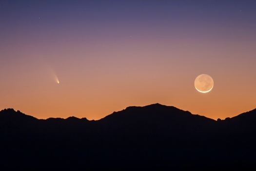 Comet PANSTARRS & the Moon (March 12, 2013)