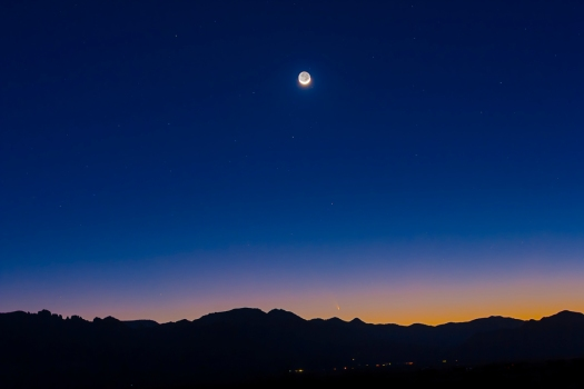 Comet PANSTARRS & the Moon (March 13, 2013)