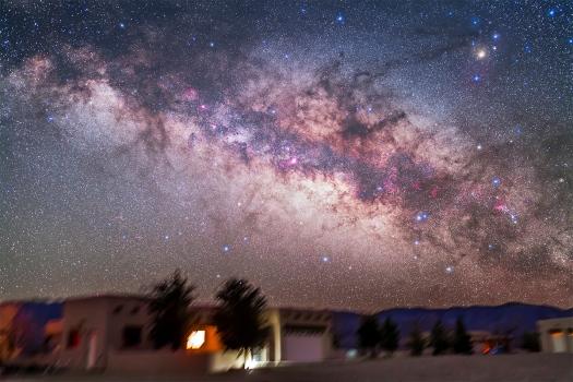 Sagittarius & Scorpius Over Adobe House (35mm 5DII)