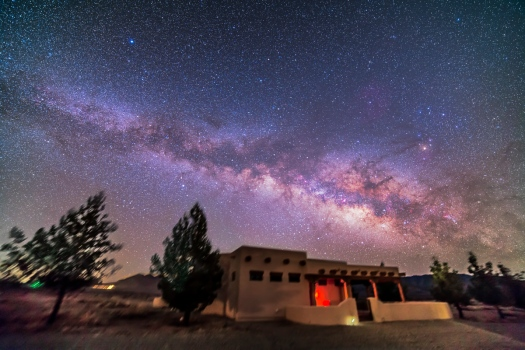 Summer Milky Rising over Adobe House (14mm 5DII)