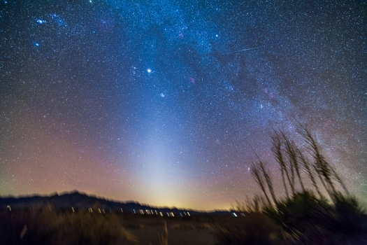Zodiacal Light in Evening Sky (New Mexico)