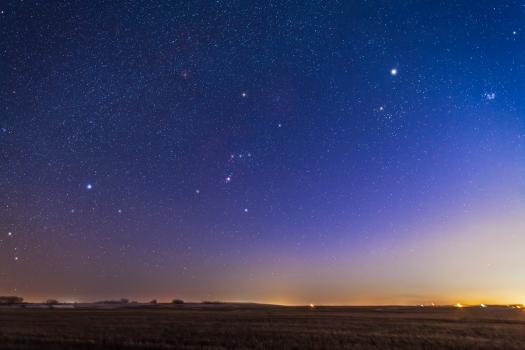 Orion & Winter Sky Setting (24mm 5DMkII)