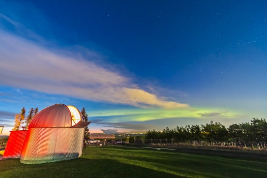Aurora over Calgary from RAO (May 25, 2013)