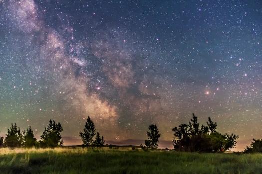 Centre of Galaxy on Horizon (June 9, 2013)