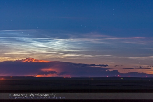 Noctilucent Clouds and Thunderstorm (June 26, 2013)