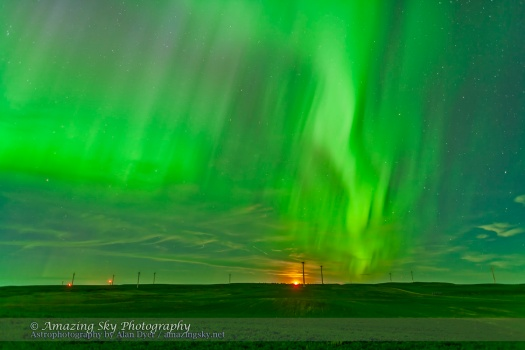 Northern Lights over Wind Farm #3 (June 28, 2013)