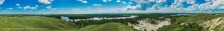 SIksika Nation and Bow River Flood Panorama #2