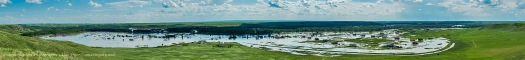 SIksika Nation and Bow River Flood Panorama #3