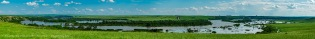 SIksika Nation and Bow River Flood Panorama #4