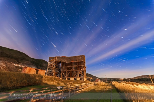 Star Trails over Atlas Coal Mine v2 (June 27, 2013)