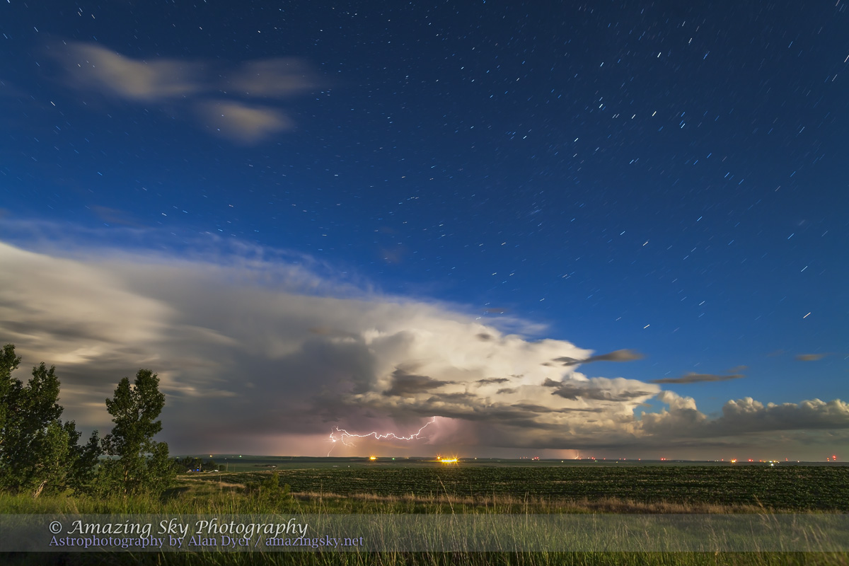 Thunderstorm in Moonlight (June 25, 2013)