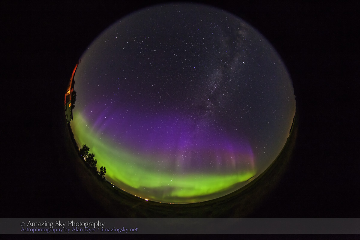 All-Sky Auroral Curtains (July 9, 2013)
