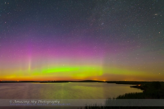 Aurora over Crawling Lake (June 30, 2013)