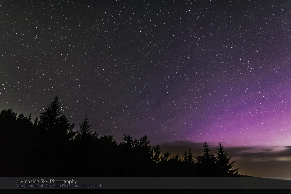 Big Dipper & Purple Aurora (July 12, 2013)