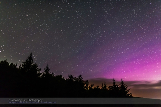 Big Dipper & Purple Aurora (July 12, 2013)