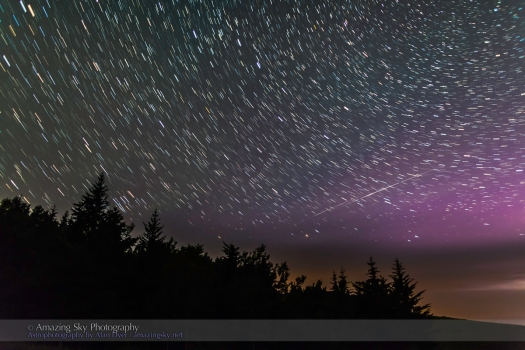 Big Dipper Star Trails and Iridium Flares (July 12, 2013)