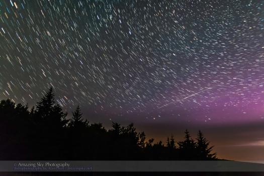 Big Dipper Star Trails and Iridium Flares (July 12, 2013)