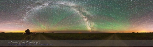 Cypress Hills Night Panorama (July 15, 2013)