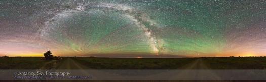 Cypress Hills Night Panorama (July 15, 2013)