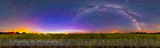Milky Way over Canola Panorama (July 6, 2013)