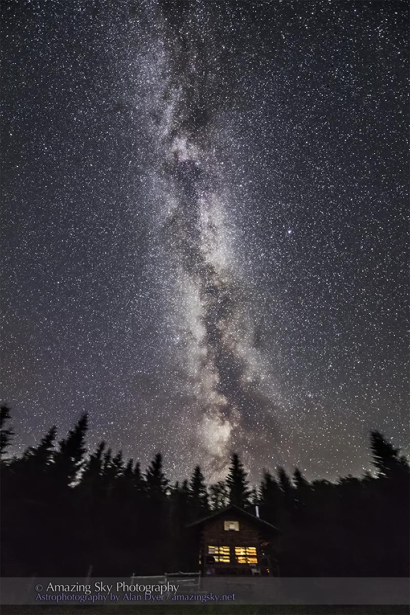 Milky Way over Log Cabin (July 11, 2013)