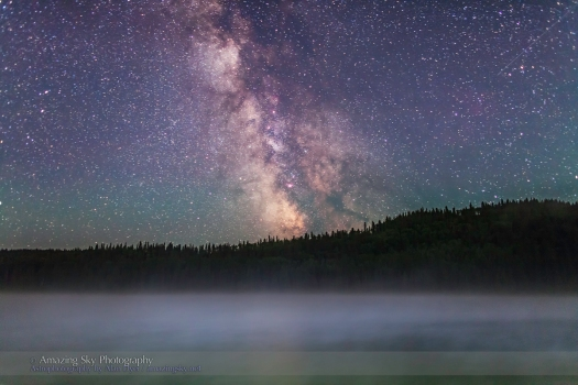 Milky Way over Misty Lake (July 13, 2013)