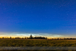 Noctilucent Clouds from Cypress Hills (July 15, 2013)