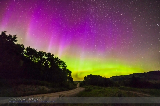 Northern Lights Down the Road (July 14, 2013)