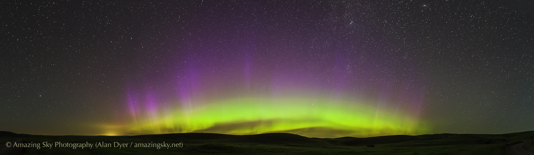 Aurora Panorama #4 from Reesor Ranch (July 13, 2013)
