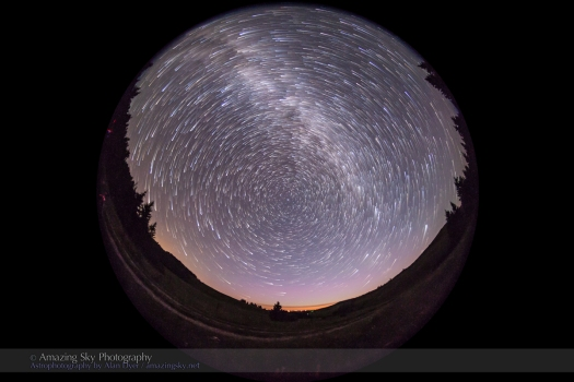 Circumpolar Comet Star Trails (July 16, 2013)