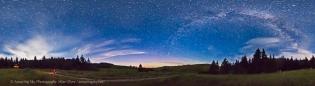 Reesor Ranch Night Sky Panorama (July 16, 2013)