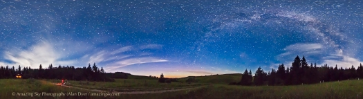 Reesor Ranch Night Sky Panorama (July 16, 2013)