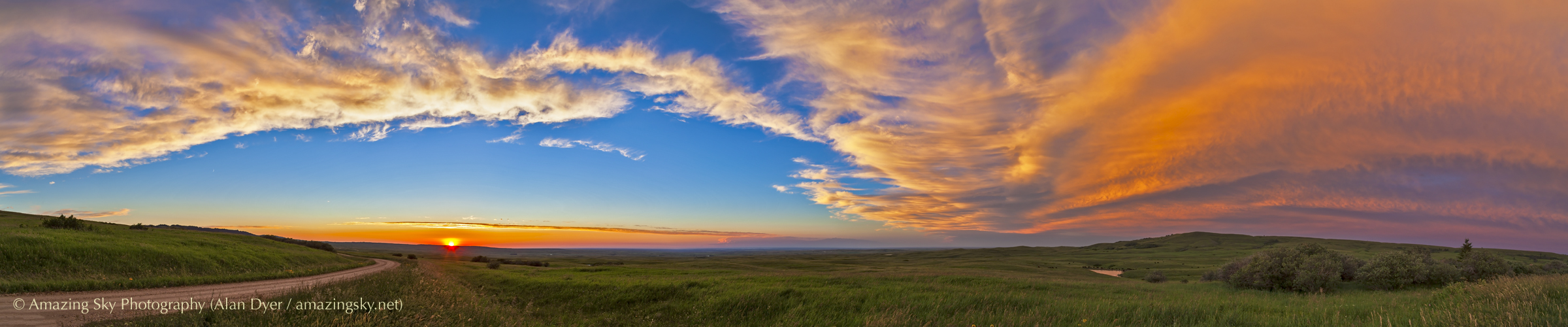 Sunset Panorama at Reesor Ranch | The Amazing Sky