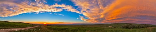 Sunset at Reesor Ranch Panorama #1 (July 11, 2013)