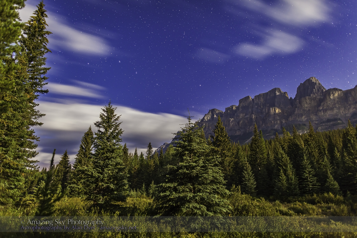 Big Dipper over Castle Mountain, Banff (Aug 24, 2013)