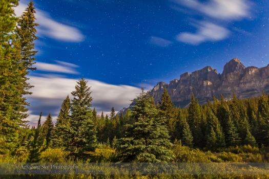 Big Dipper over Castle Mountain, Banff (Aug 24, 2013)
