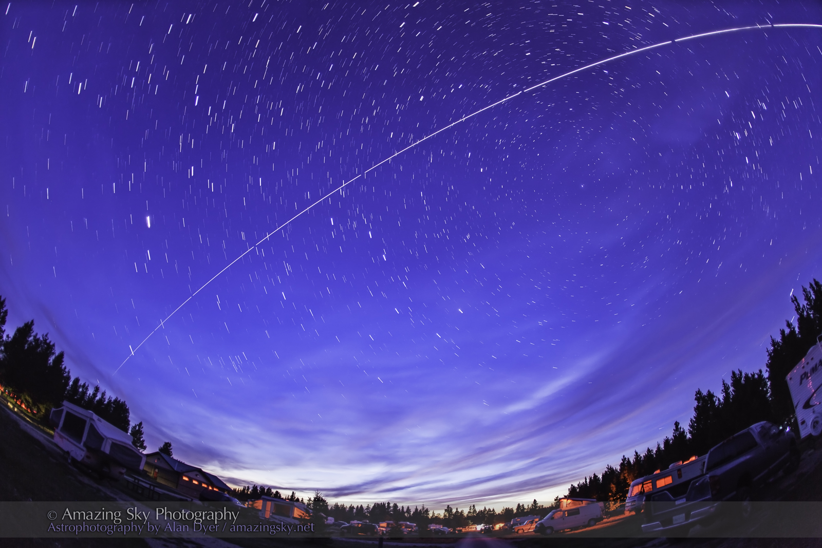 ISS Pass Over Star Party (August 10, 2013)