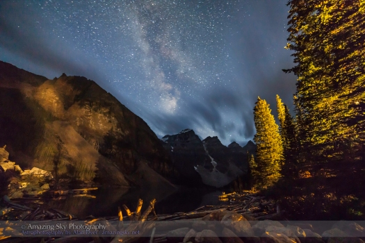 Milky Way over Moraine Lake (Aug 25, 2013)