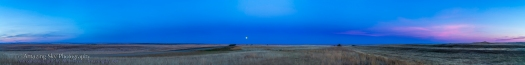 Harvest Moon & Earth Shadow Panorama (Sept 19, 2013)